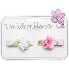 Den lille Prikken over i'en, Hårspenne sett 4008 Blomst White/Powder Pink